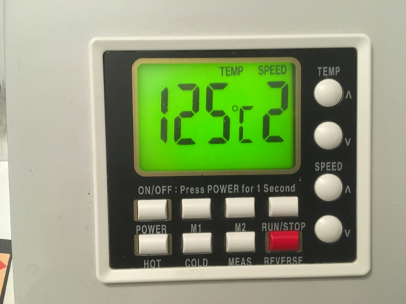 Recommended laminating temperatures for PCBs.