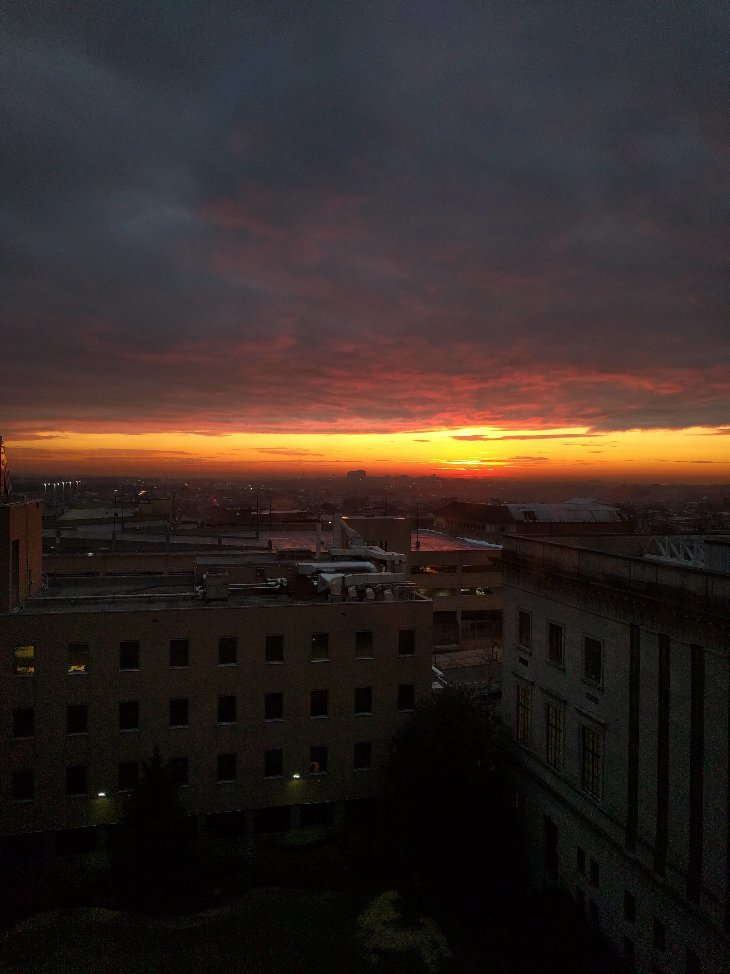 Baltimore Sunrise from the Green Lab