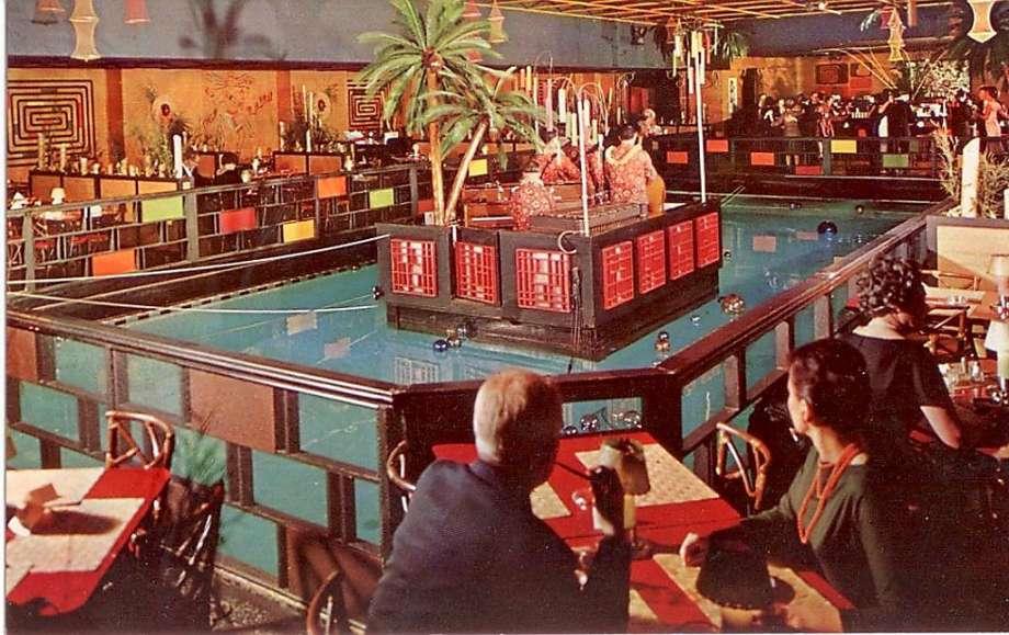 Tonga Room tiki bar - historic postcard - Fairmont Hotel in San Francisco