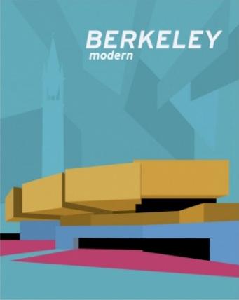 Berkeley Modern poster depicting a building designed by Mario Ciampi