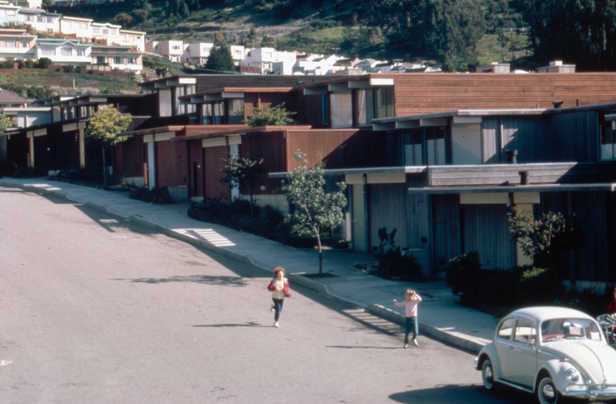 Historic photo of homes in Diamond Heights, a neighborhood in San Francisco California