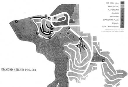 Early Diamond Heights development map