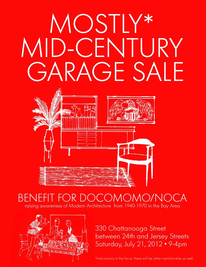 Poster for mid-century garage sale