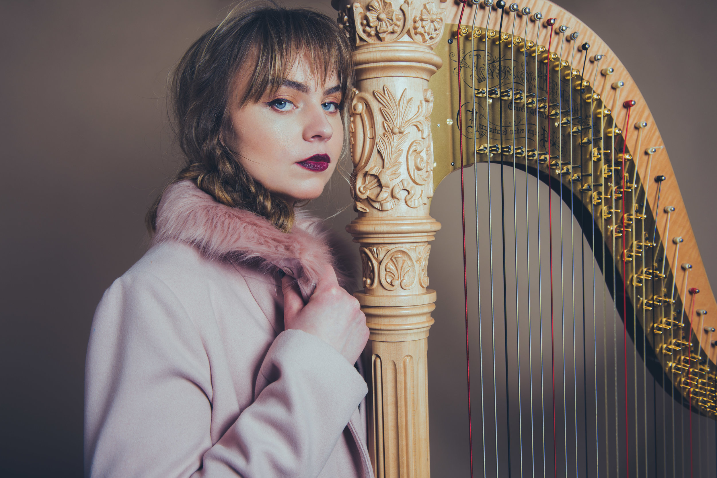 "Margaret Davis with the American Chamber Orchestra - Margaret joins the ACO for the beautiful harp and violin feature, ""Scottish Fantasy"" by Max Bruch."