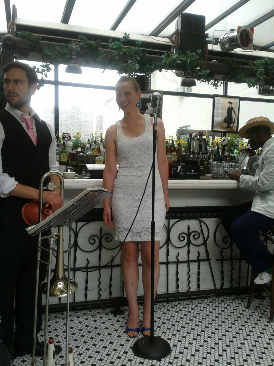 - My first time singing in New York, 2012.