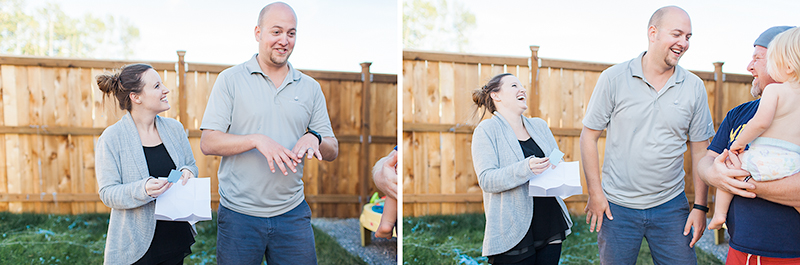 gender reveal | silly string |lifestyle photography bellingham, wa | visit www.jenfoxphotography.com