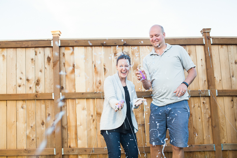 gender reveal   silly string  lifestyle photography bellingham, wa   visit www.jenfoxphotography.com
