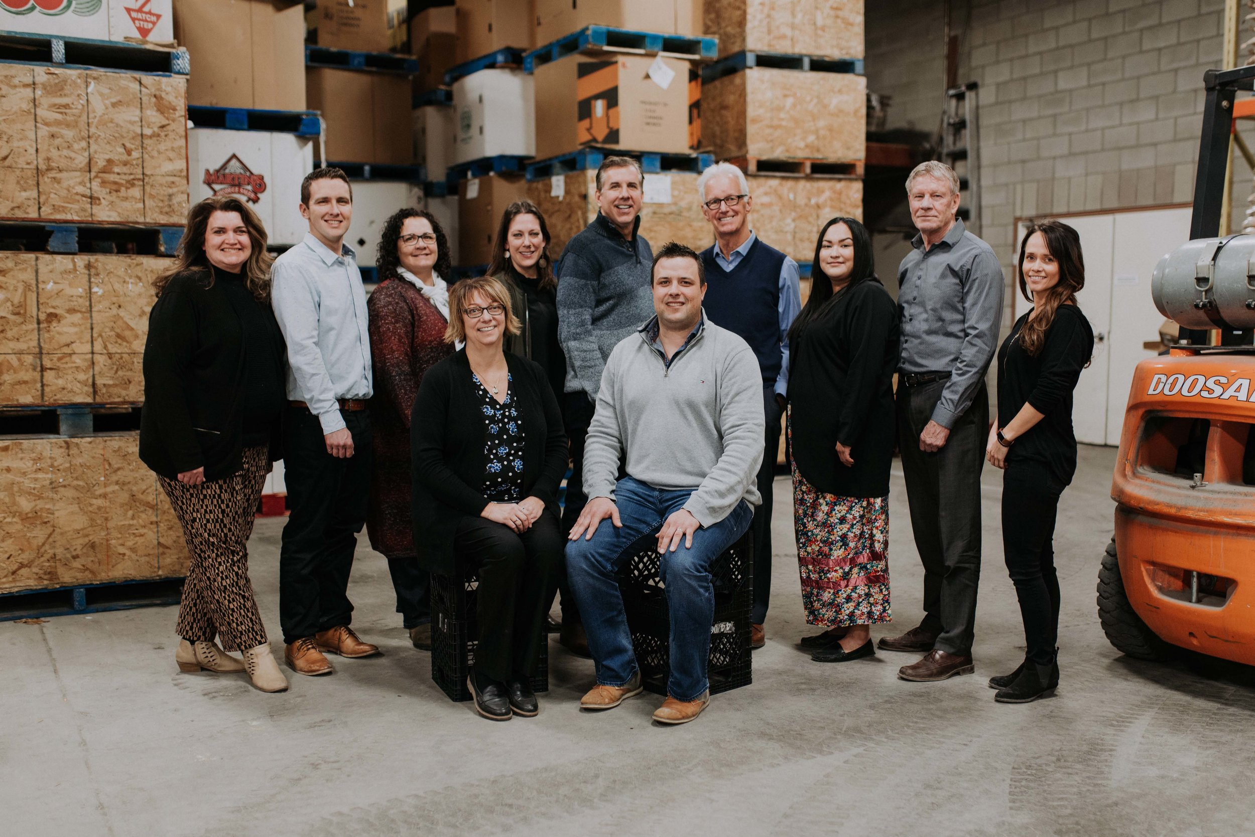 2019 CANADIAN TIRE GOLF CLASSIC COMMITTEE PHOTOGRAPHED AT THE SASKATOON FOODBANK & LEARNING CENTRE