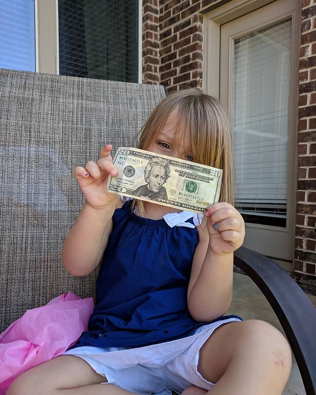 She got the $20 egg 3 years in a row!