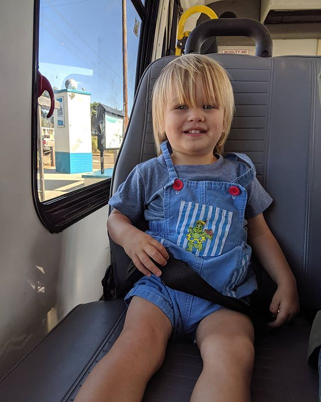 This little dude was so excited about sitting in this seat on our way to @thelivingcoast
