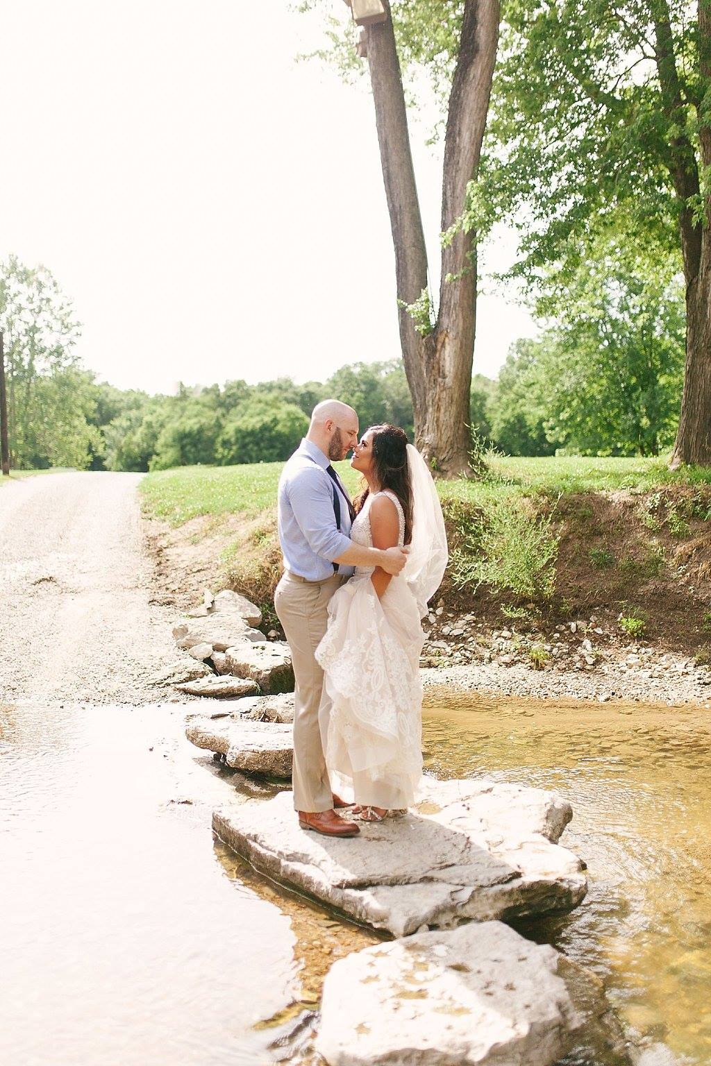 Beautiful Backdrops - Our white shiplap walls are blank canvas that can be customized to your unique style. And when you step outside onto our 85 acre property, the options are endless. Take your engagement photos in the cool waters of our rock bottom creek; have your gal pals pose with you in a field of wild flowers; or you can even head to the pasture and have your pictures bare back on a horse! God's creation creates the perfect backdrop, and there is an infinite supply of beauty at the Ranch.