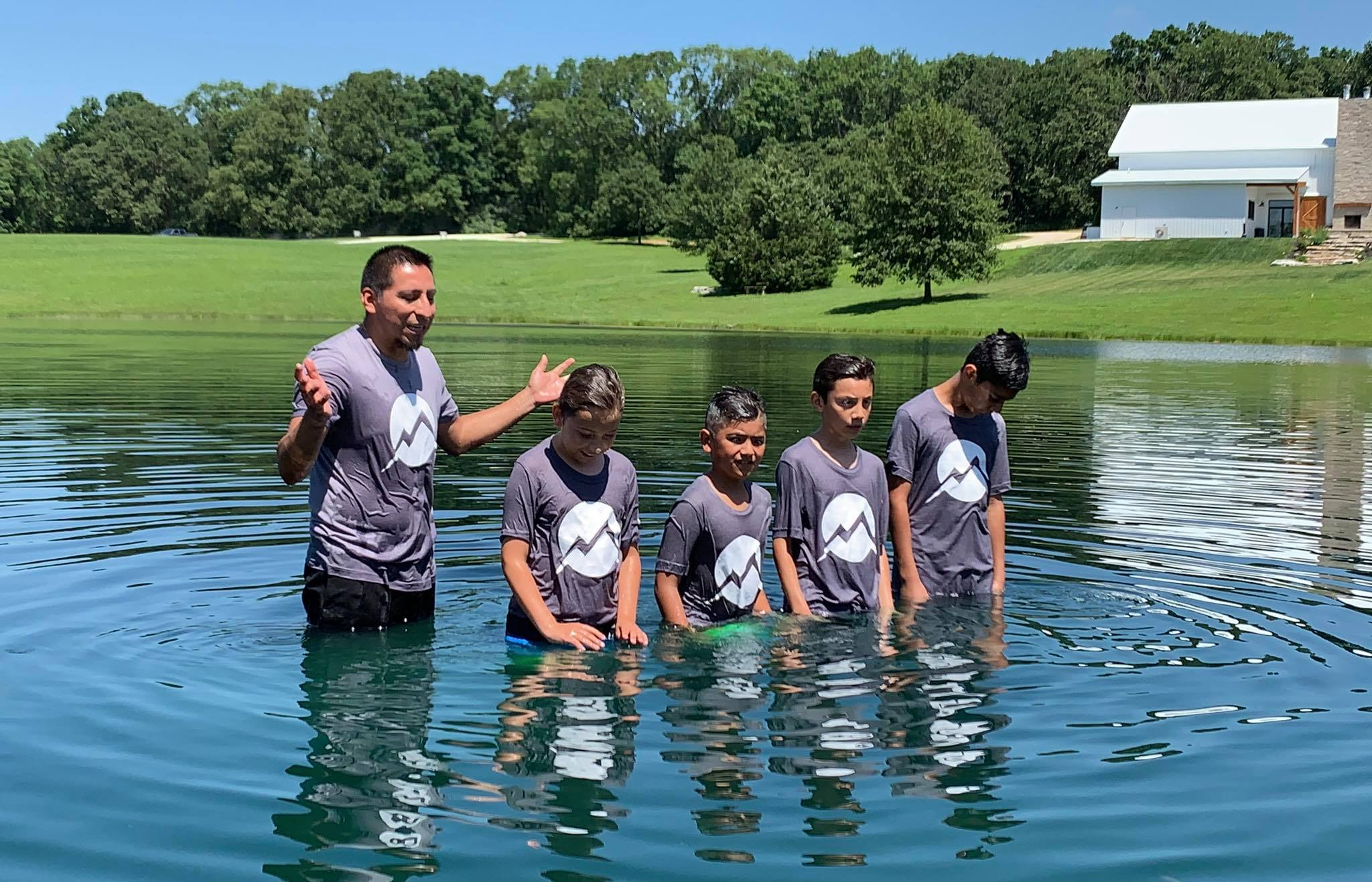 Lake Baptisms - After your picnic, you can make your way down to the lake to celebrate your baptisms in the lake. Over the years there have been 100s of believers who have publicly professed their faith in Jesus at the Ranch!