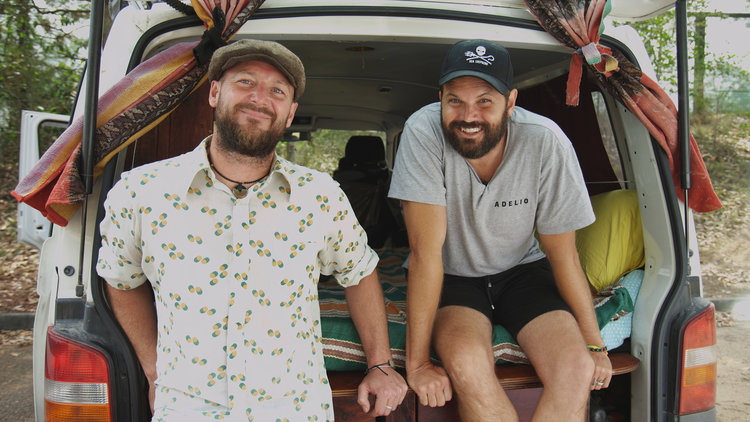 Jonny and Jared, the founders of  @vanlifediaries