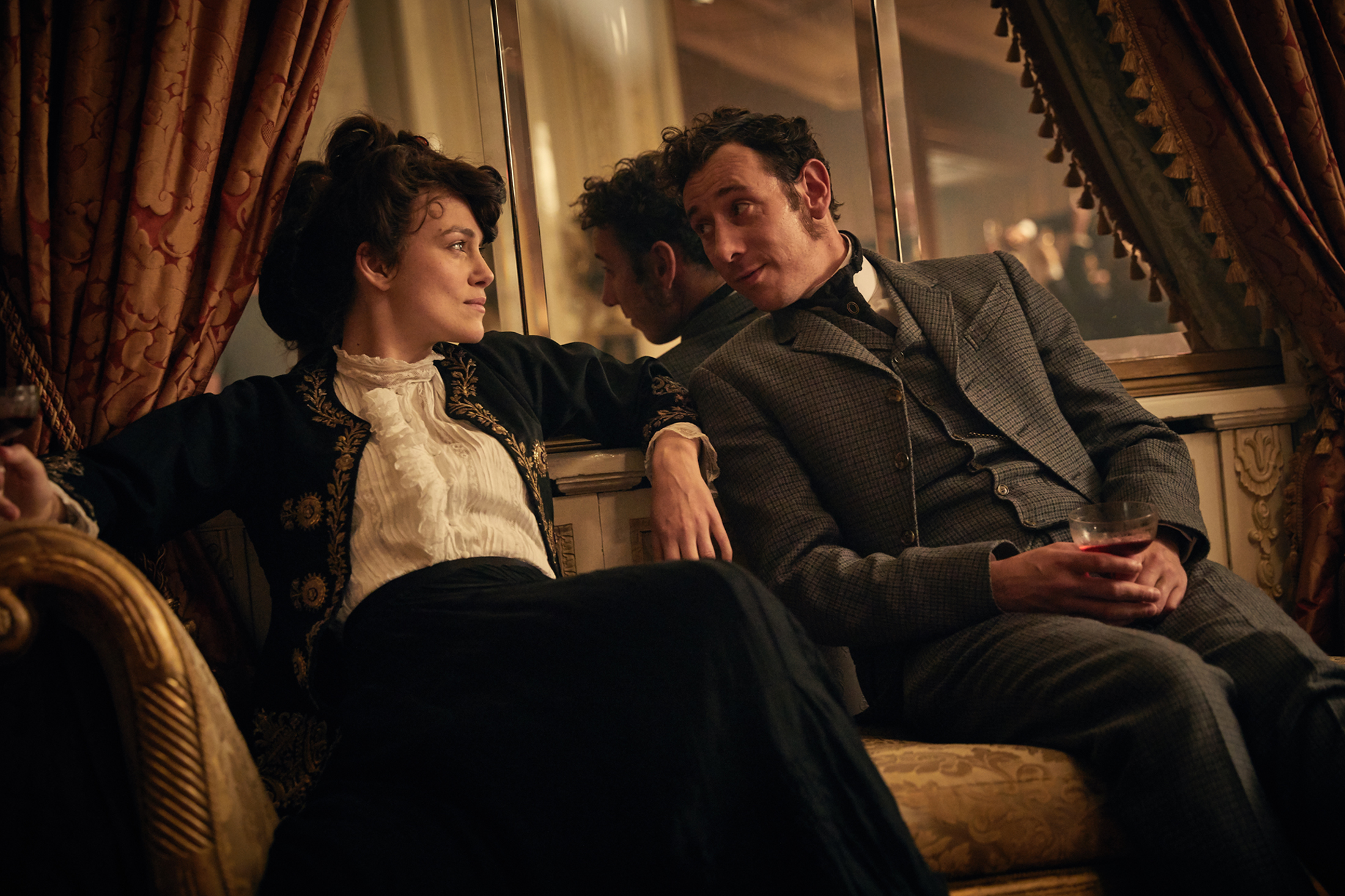 Keira Knightley and Ray Panthaki in Colette. Photo: Transmission Films