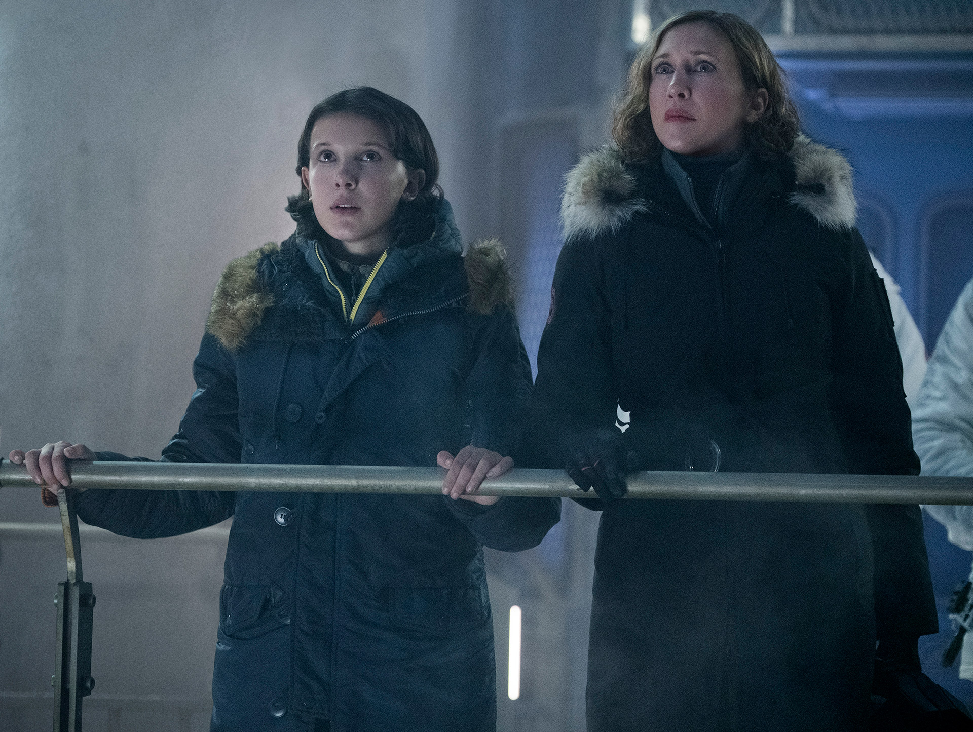 Vera Farmiga and Millie Bobby Brown in Godzilla II: King of The Monsters. Photo: Warner Bros