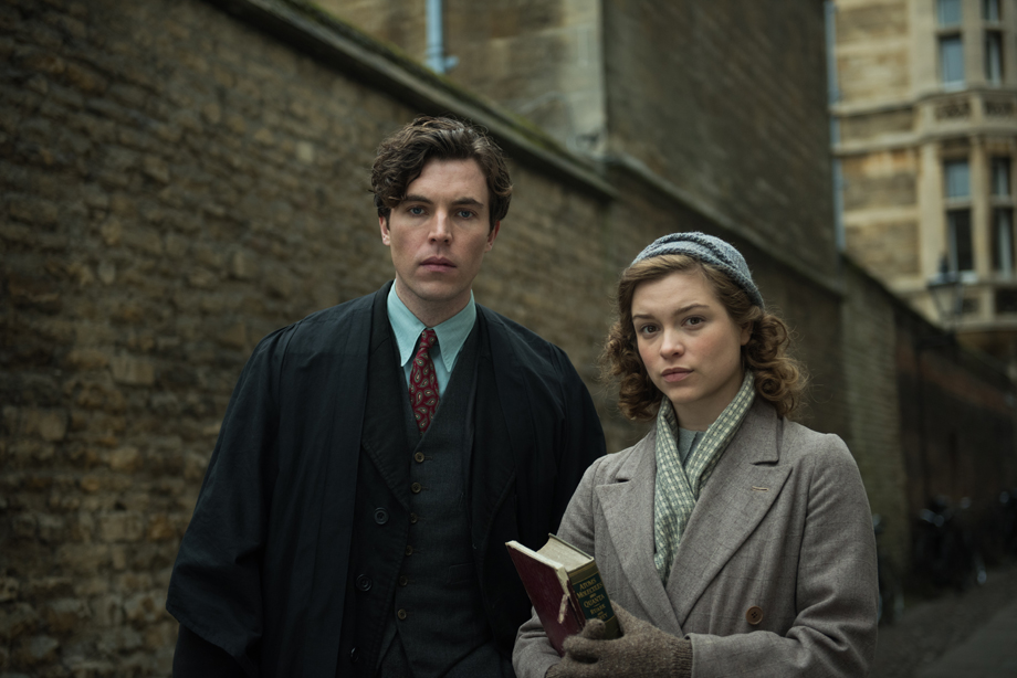 Sophie Crookston and Tom Hughes in Red Joan. Image: Transmission Films
