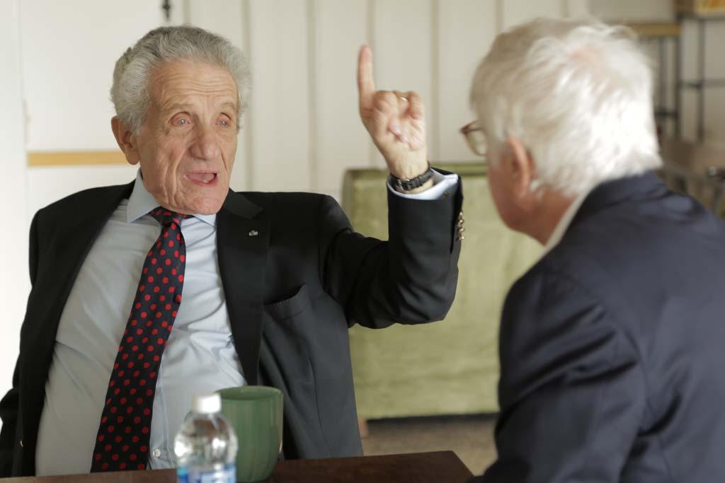 Medak interviews John Heyman. Photo:  The Ghost Of Peter Sellers