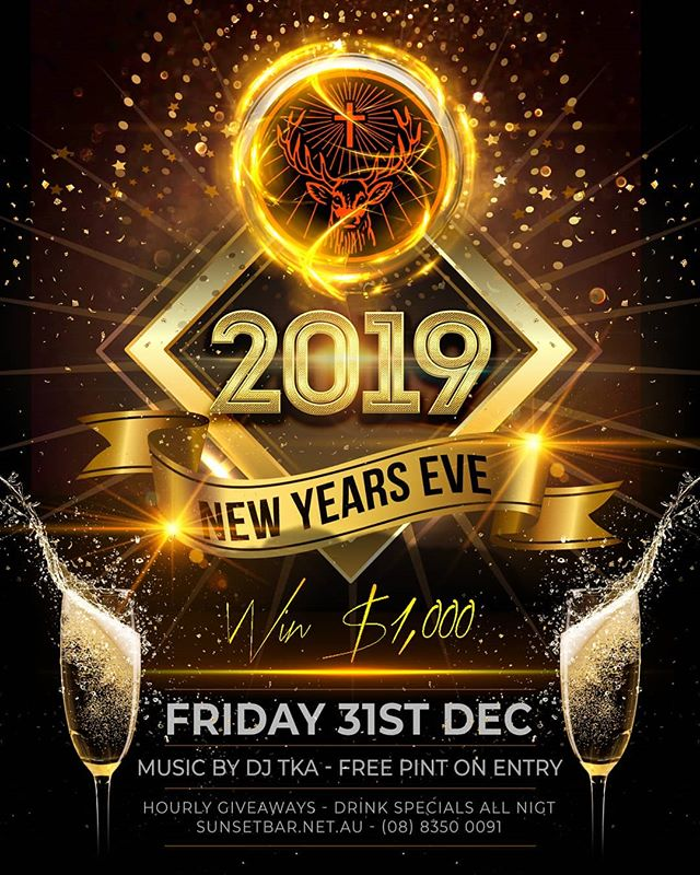 Why not spend New year's at the Sunset Bar, with a chance to win $1000 on the night & a free pint on entry. - - - - - #newyears #giveaway #1k #$$ #sunset #bar #party #spirits #beer #wine #cocktail #drinks #dj