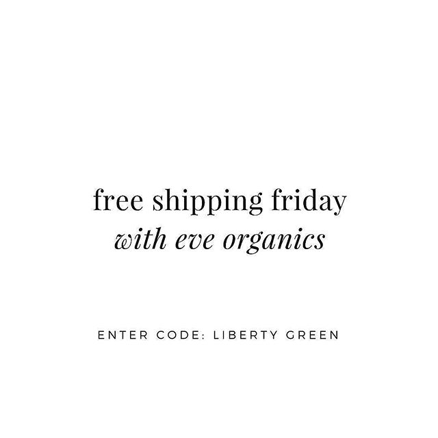 It's that time again - FREE SHIPPING FRIDAY with @eveorganics! 🌸 Use code LIBERTYGREEN to get FREE shipping within Australia (or discounted international shipping) until midnight only 🍃 Eve Organics carries a wide range of brands, including @tataharperskincare, @leahlaniskincare, @hyntbeauty, @innersenseorganicbeauty and @earthwisebeauty ✨🍊 If there's anything you've been eyeing, or need to stock up on faves, now is your time to do it! 💕 Link to shop in my bio  ⠀⠀ .⠀⠀ .⠀⠀ ⠀⠀ .⠀⠀ #nontoxic #nontoxicbeauty #nontoxicskincare #greenbeauty #organicbeauty #organicskincare #organicmakeup #beauty #beautyblogger #bblogger #bbloggers #naturalbeauty #natural #naturalmakeup #eveorganics #makeup #motd #freeshipping #earthwisebeauty #naturalskincare #blogger #libertygreen #greenbeautyblogger #greenbbloggers #bbloggersau #organiclife #organic #FOTD #healthylife #healthyskin #eveorganics