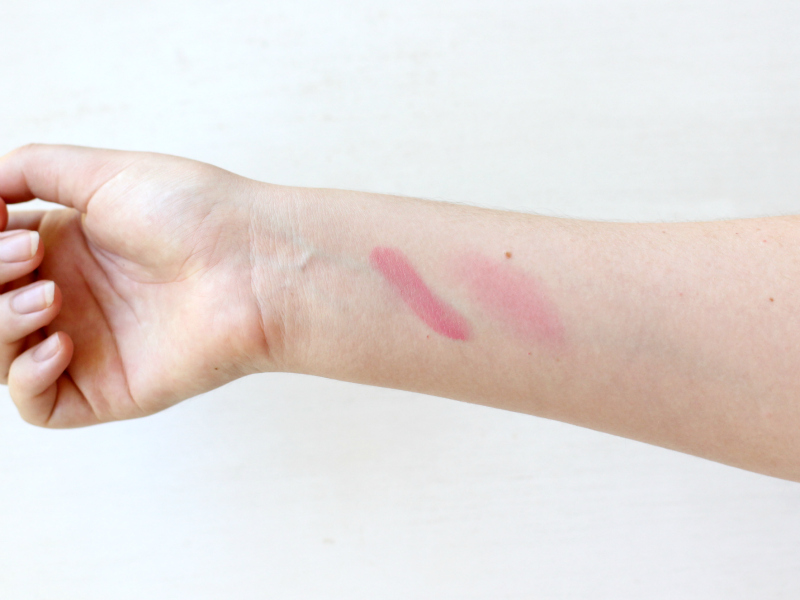 RMS Beauty Demure Lip2Cheek swatched & blended out