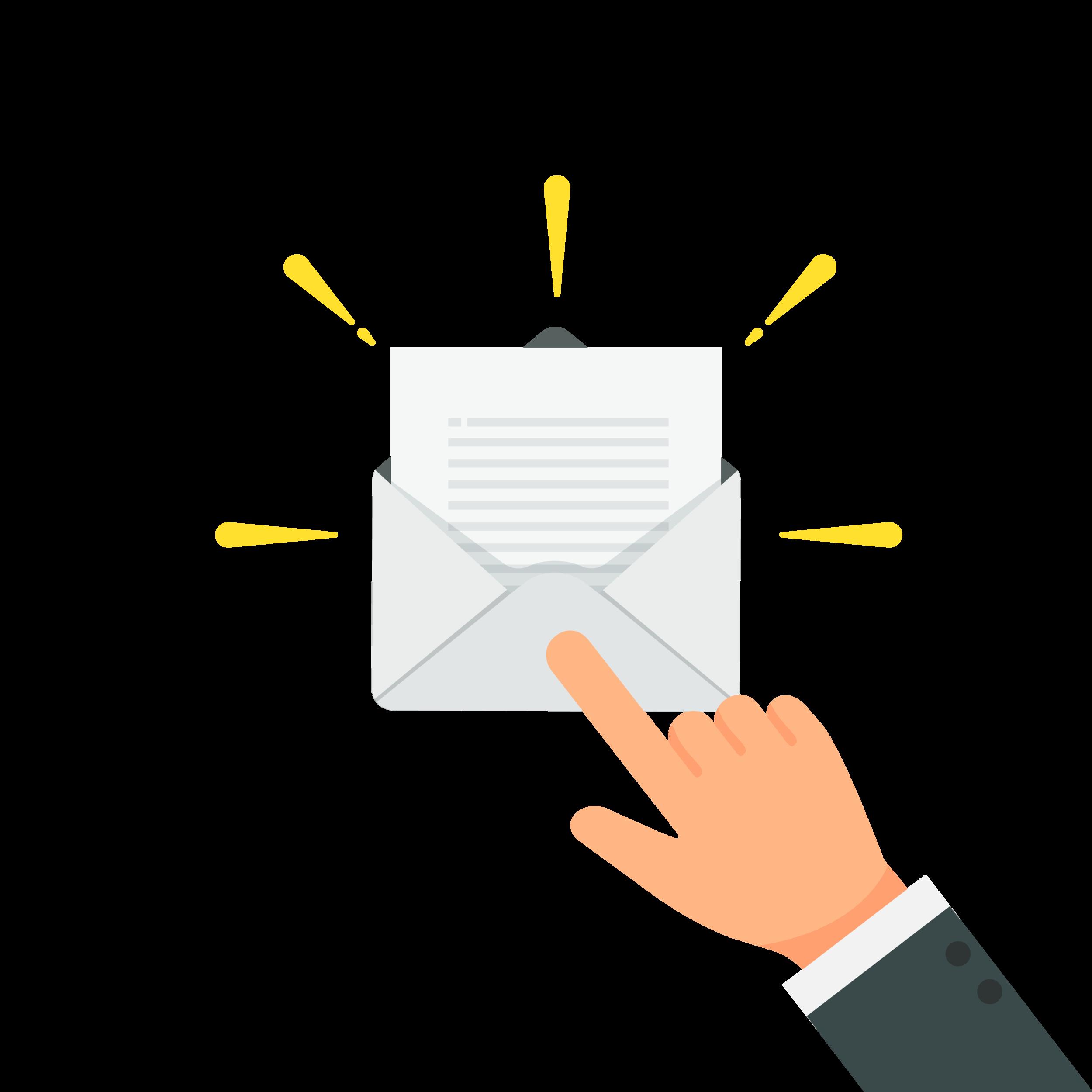 Een persoon die zijn of haar emailadres bevestigt door op de link in de email te klikken.