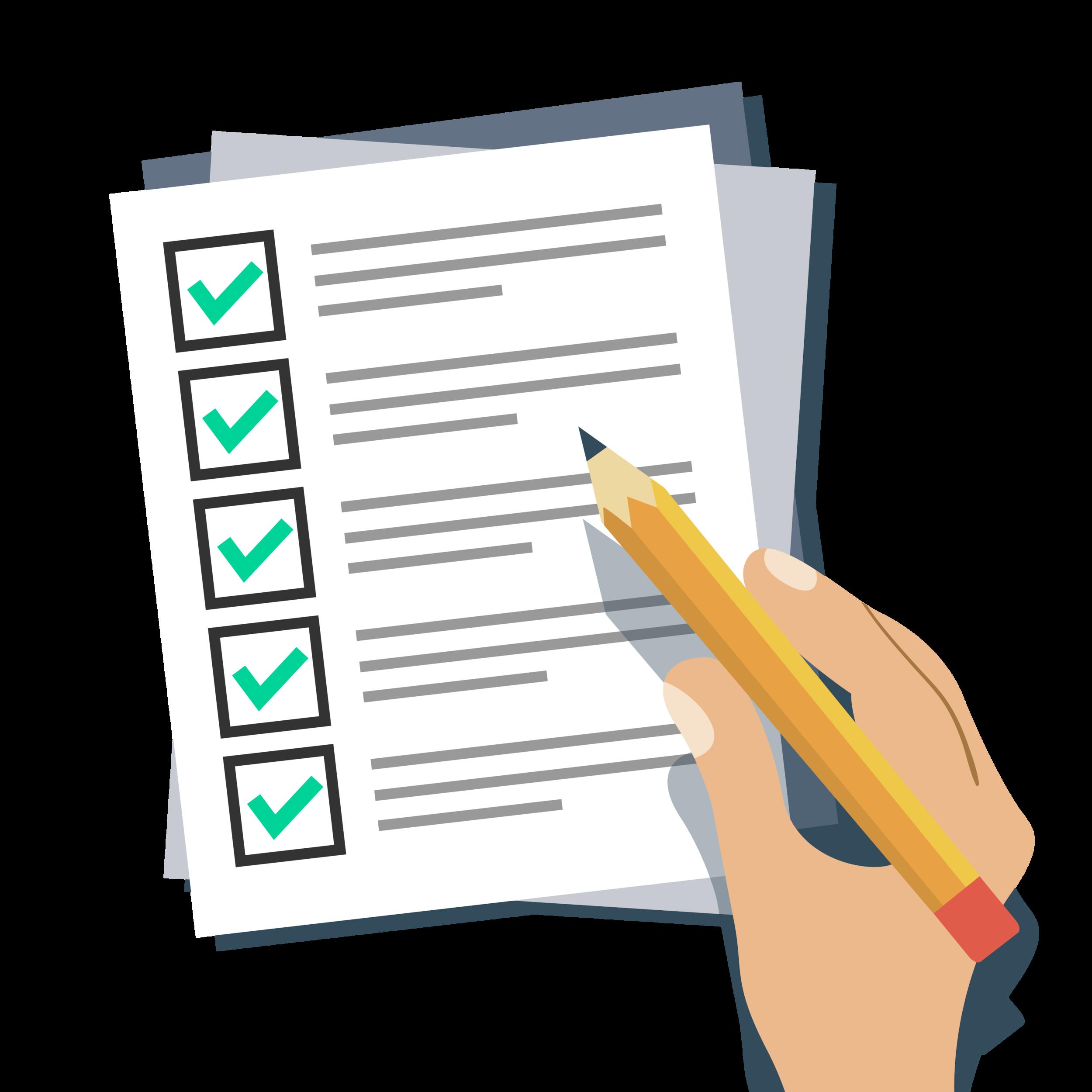 Een checklist met aangevinkte vakjes