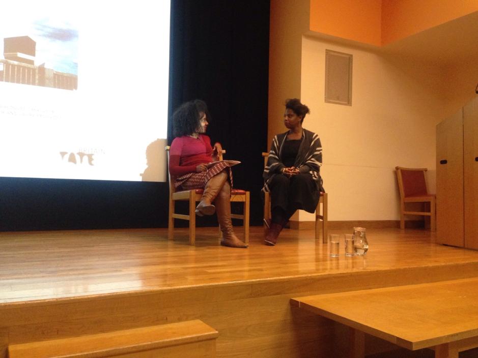 Zina Saro-Wiwa in conversation with Zoe Whitely.  Image credit: Peju Oshin