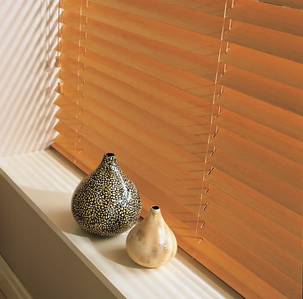 Wooden Venetian Blinds      Wooden Blinds offer an affordable alternative to wooden shutters whilst still looking great in your window. Available in a range of colours, finishes and different slat widths to suit your style.
