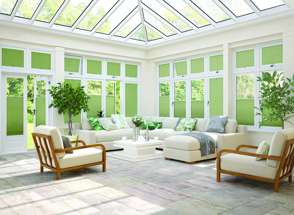 Conservatory Blinds      Our expertise in conservatory blinds will help you get the correct solution for your needs. Performance fabrics for heat management, roof blinds with manual, electric or crank operation and a wide range of colours and styles.