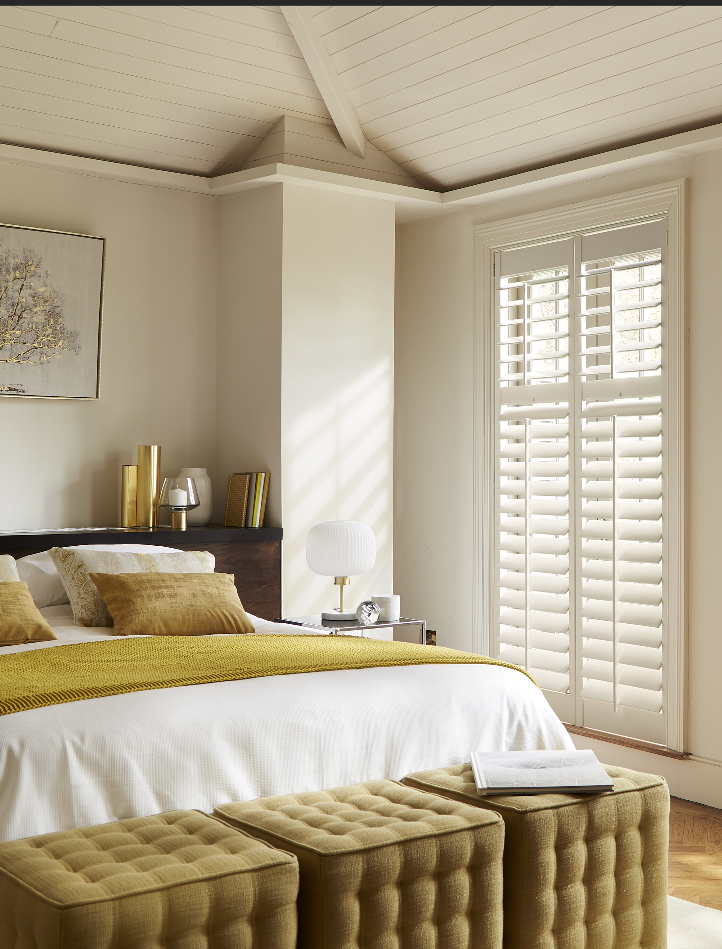 Full Height Shutters      Our most popular style of shutters due to their flexibility almost as much as their look. Covering the full height of the window, panels can be divided into fully controllable sections.