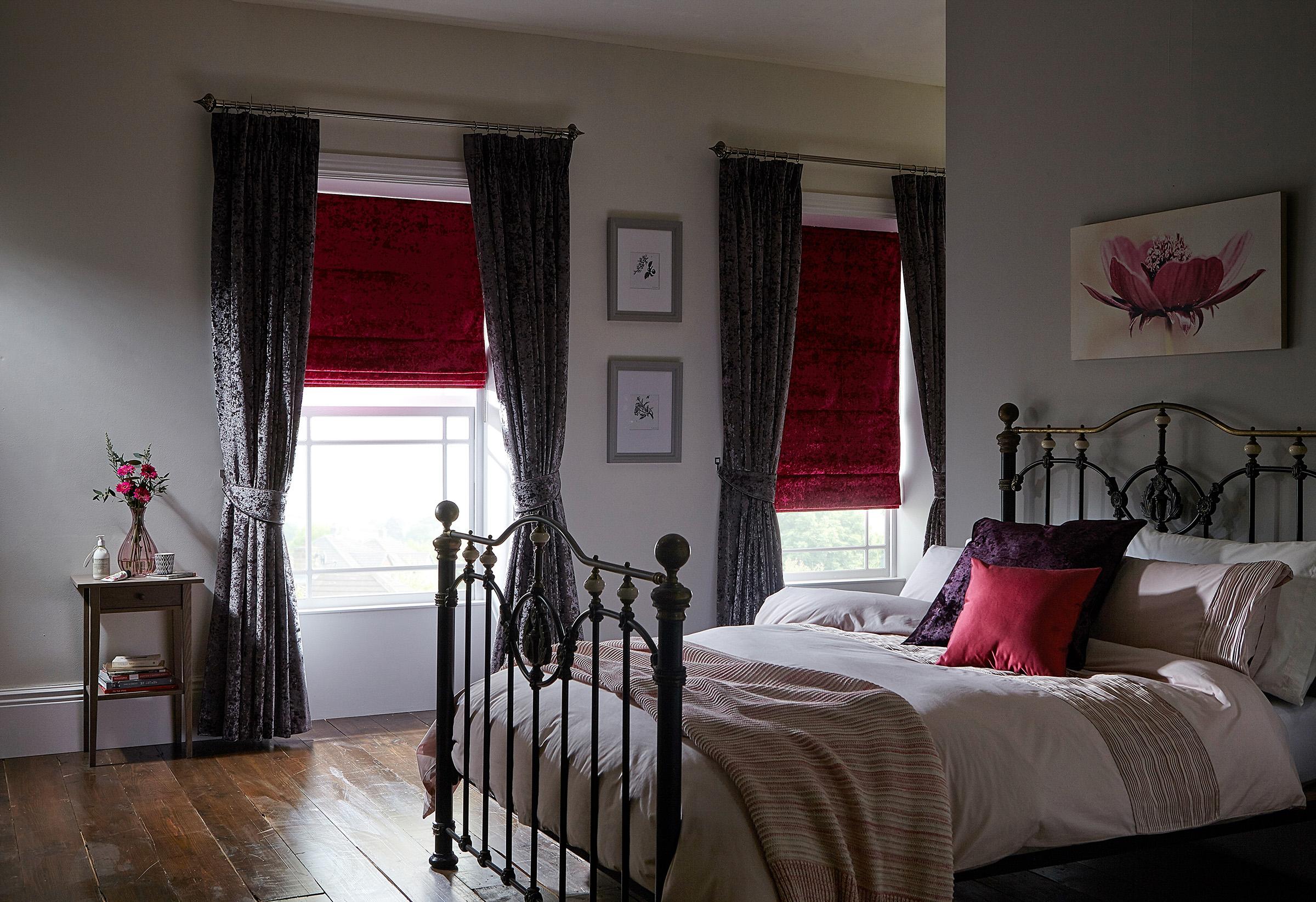 Elega Heather Curtain_Elega Fuschia Roman Room.jpg