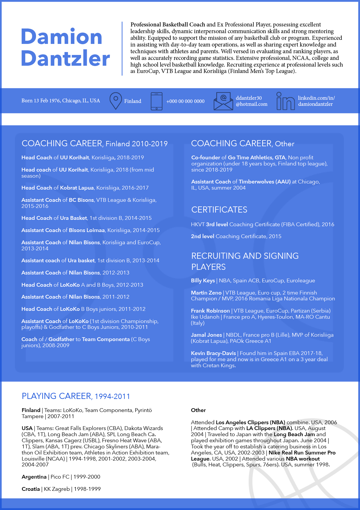 CV_Resume_Design_Basketball_Coach_Damion_Dantzler