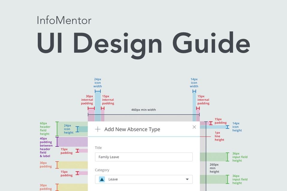 InfoMentor UI Design Guide - VIÐMÓTSHÖNNUN