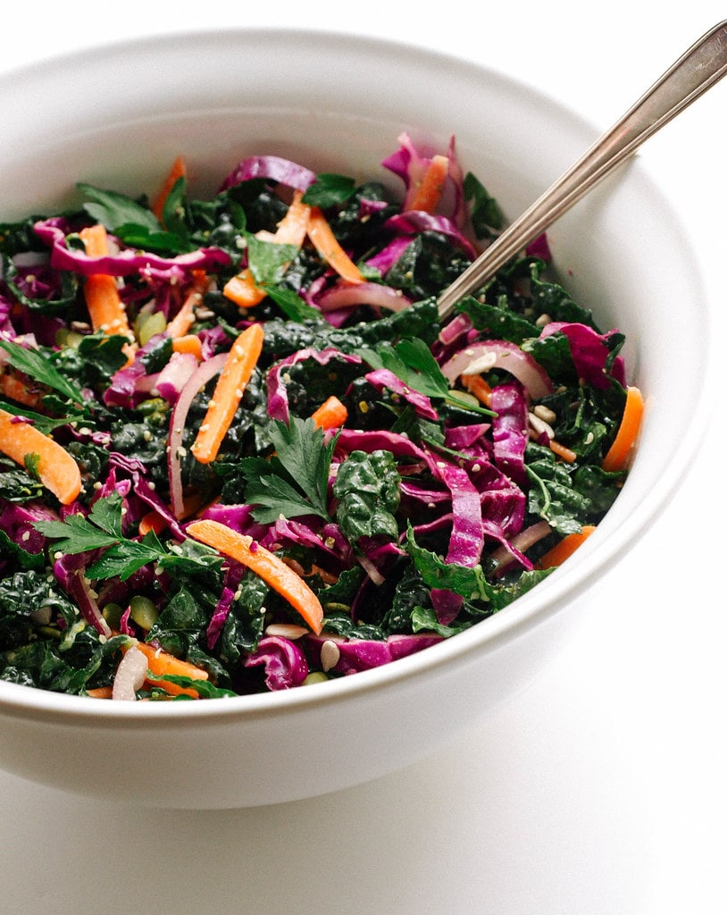 Kale + Red Cabbage Slaw - Image copyright Simple Veganista. Click image to view original recipe.
