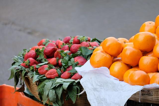 Strawberries and oranges or clementines.jpg