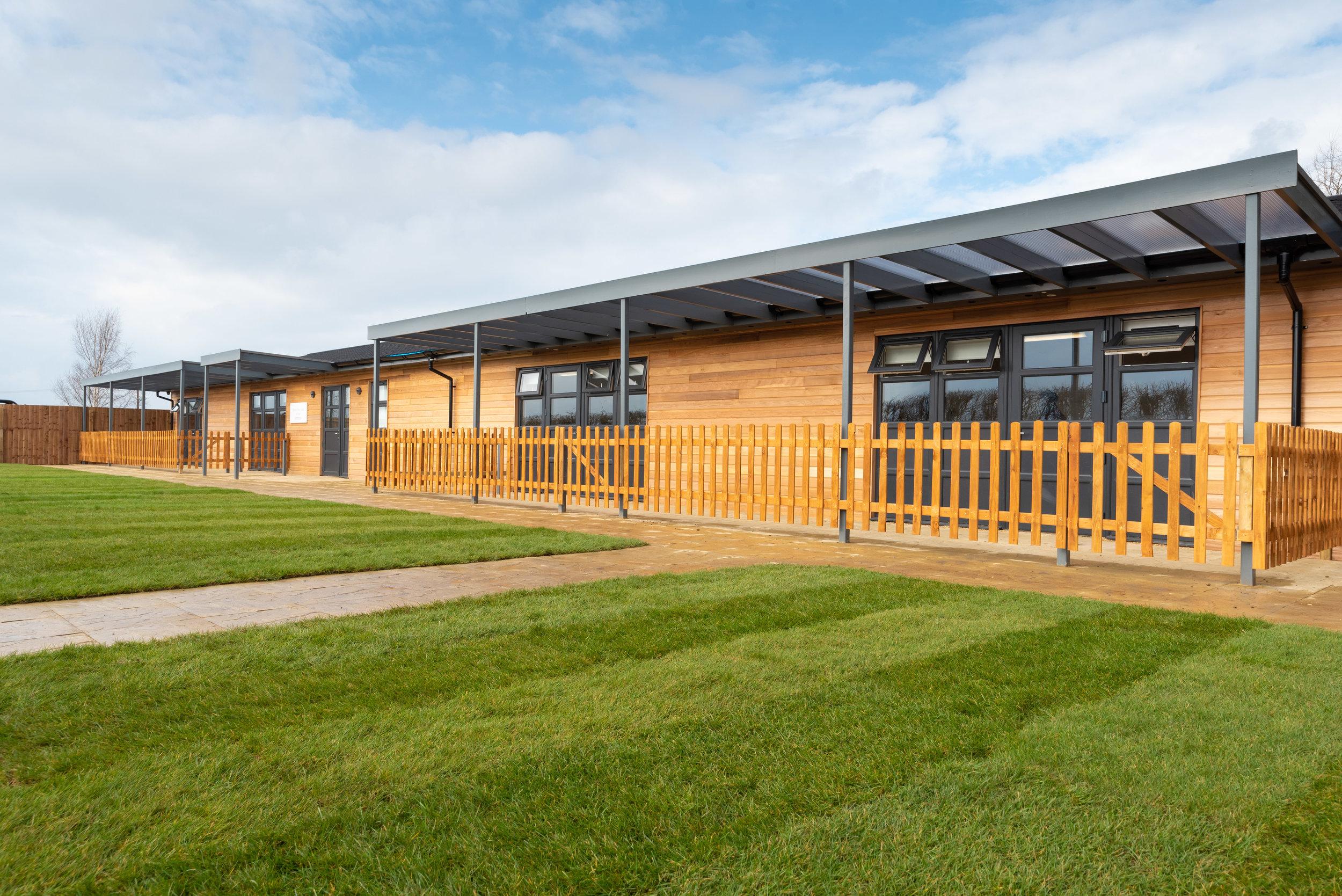 Exterior of new school, Bedford