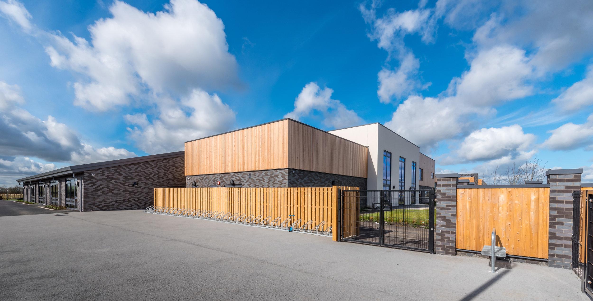 Exterior of school building in Cambourne