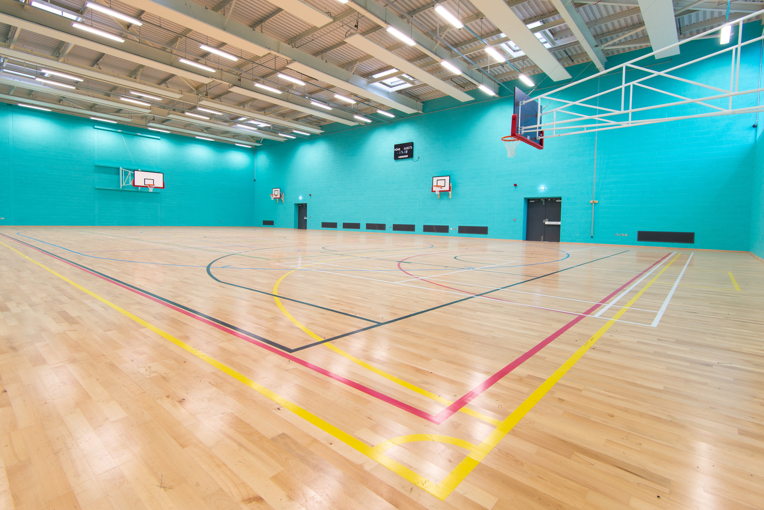 Sports centre hall