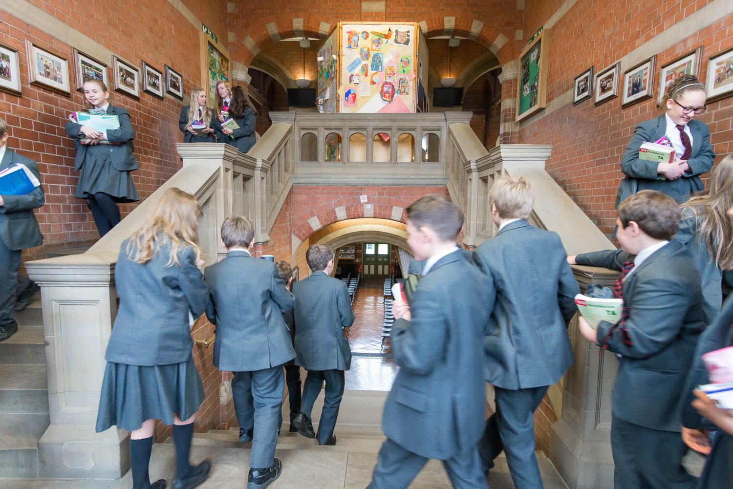 Hymer's College staircase with students
