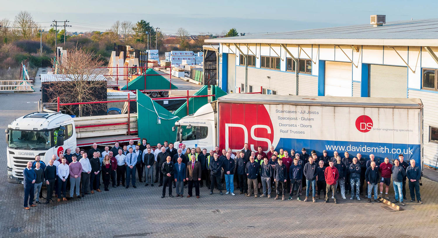 Large Group Photo of workforce at David Smith in St Ives