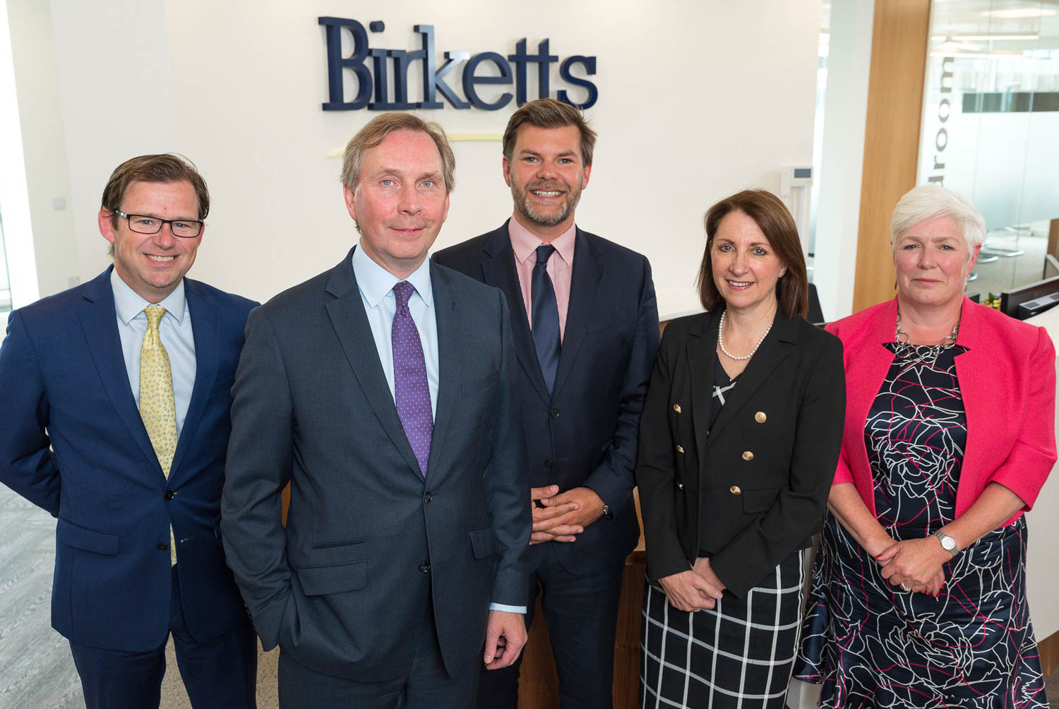 Birketts staff group photo in Cambridge