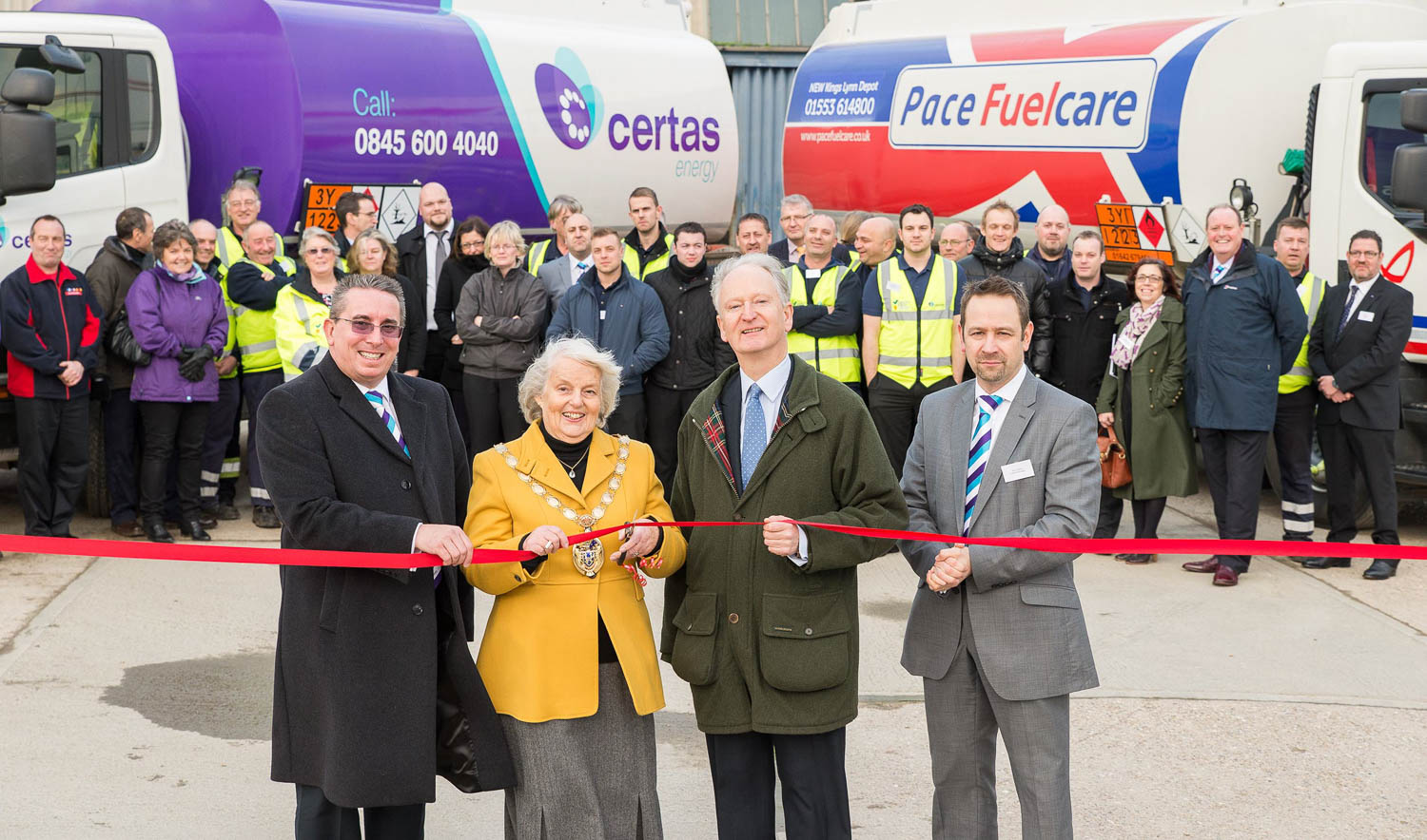 Ribbon cutting of the Pace Fuelcare depot in Kings Lynn