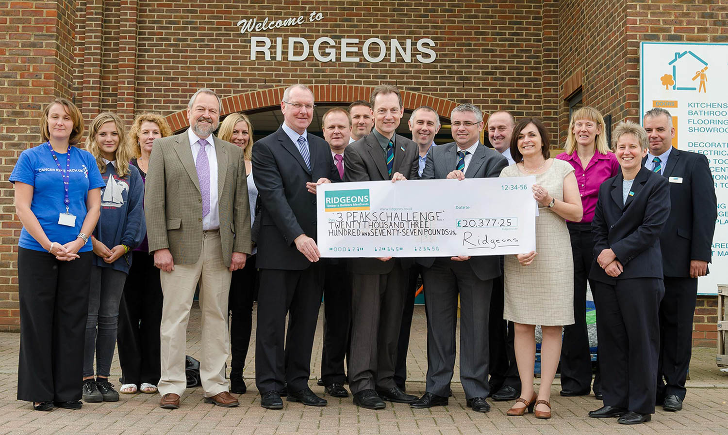 Ridgeons in Cambridge charity donation