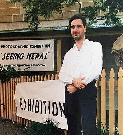First solo exhibition in Sydney 1995