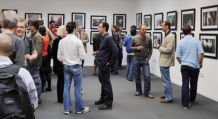 Group show after completing Magnum Masterclass week in London, 2008