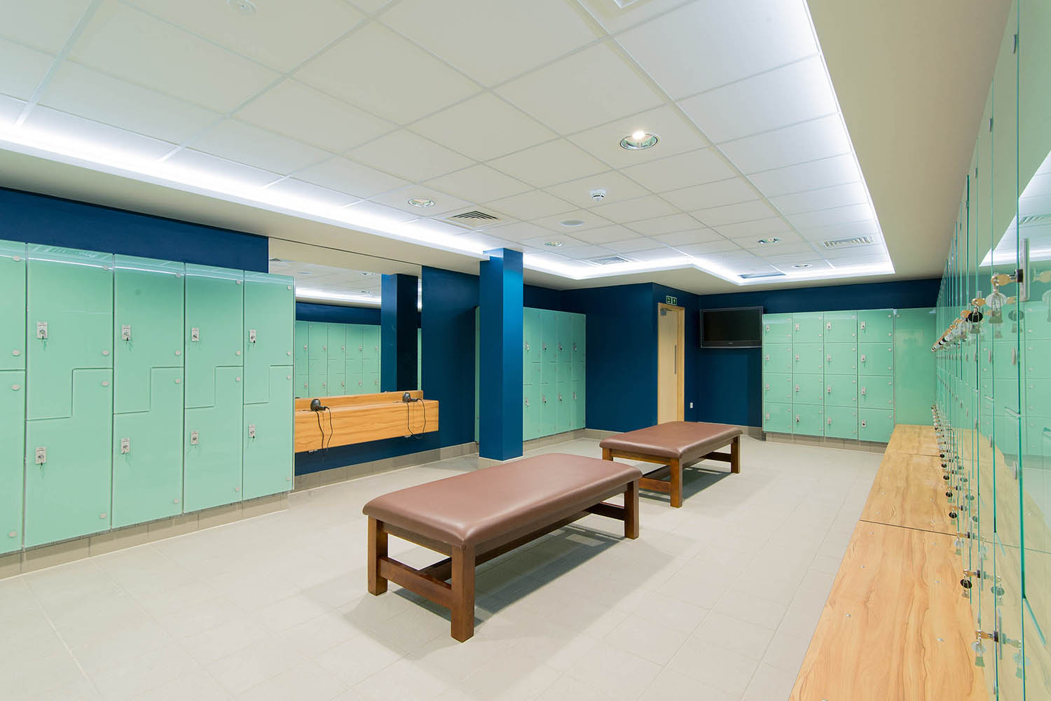 Changing rooms at One Leisure in St Ives