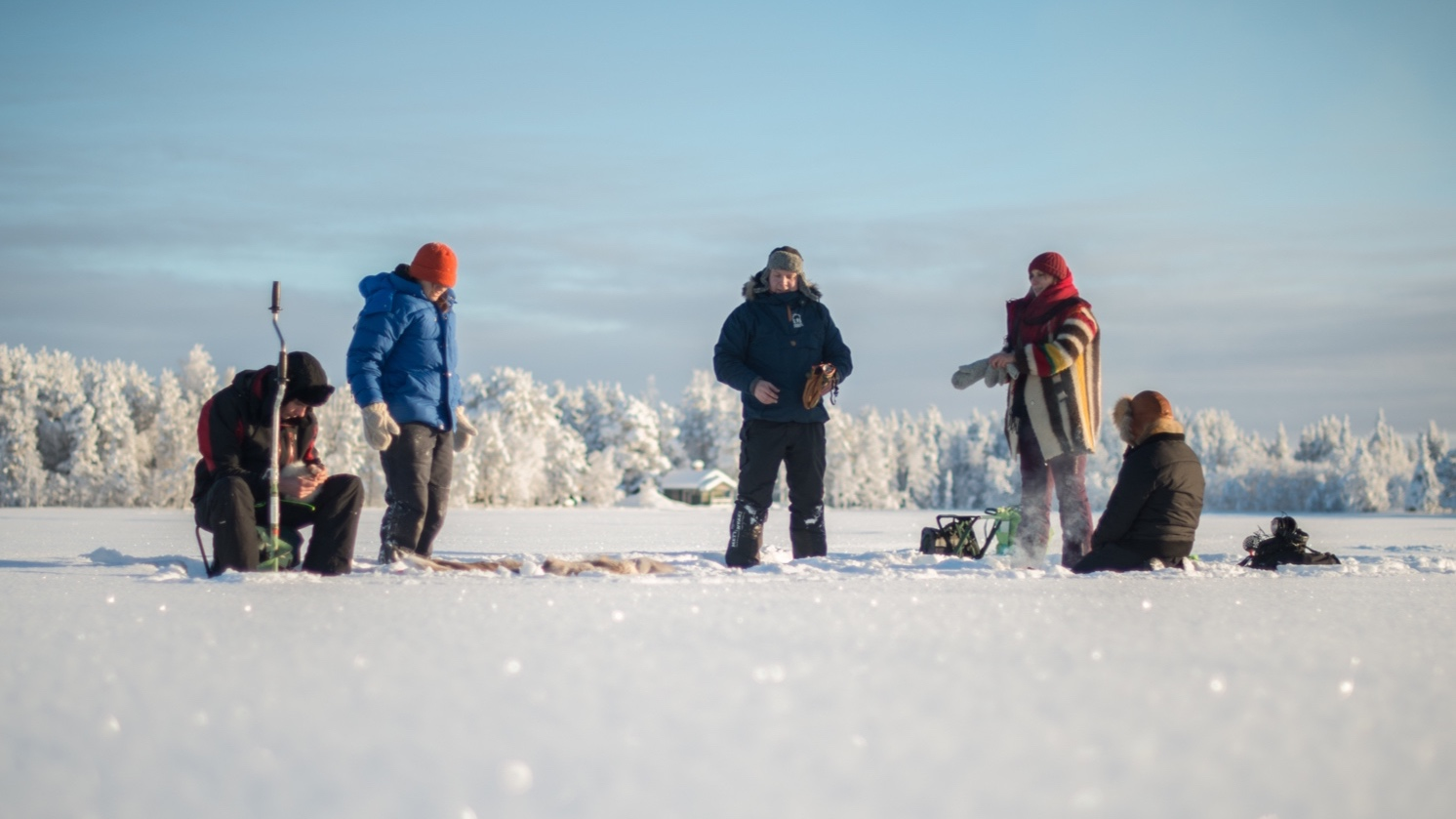 A guide teaches you the traditional way of ice fishing. After that you can try it yourself and enjoy the complete whiteness and silence. A hut will be warmed up for you with some hot drinks served. if the god of lakes allows us to have some fish our guide will prepare it in the old fashioned way on an open fire. Duration 3 hours.  LEARN MORE