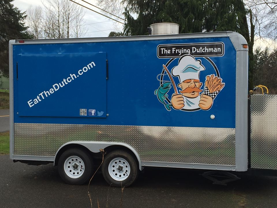 The Frying Dutchman   - Fish & ChipsFind on FacebookWebsite: www.EatTheDutch.comPhone: 206-713-2210Email: Trent@EatTheDutchAvailable for cateringAlso serves in: Puyallup, Edgewood & Sumner