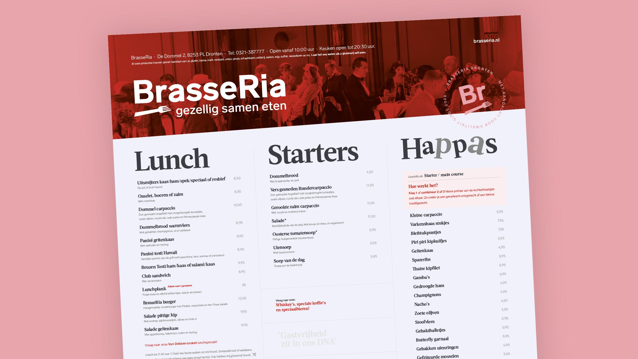 BrasseRia (buiten) menukaart