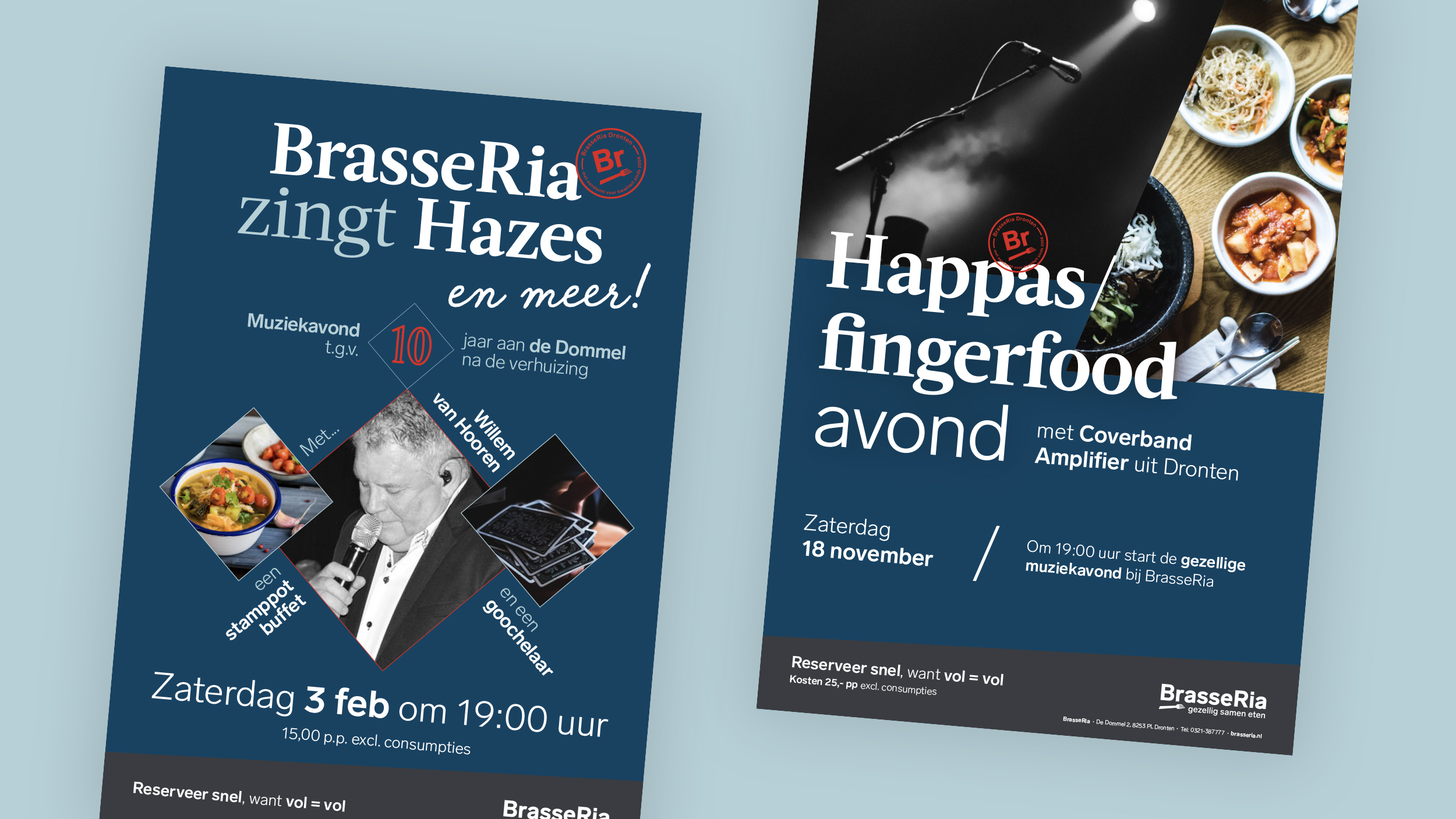 Posters voor evenementen bij BraseeRia